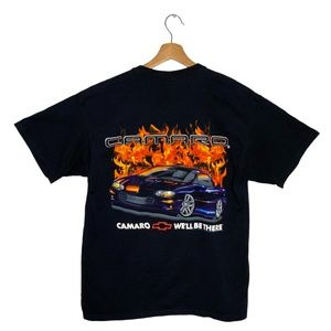 2000 Chevrolet Camaro GM Flamed T-Shirt Black VTG